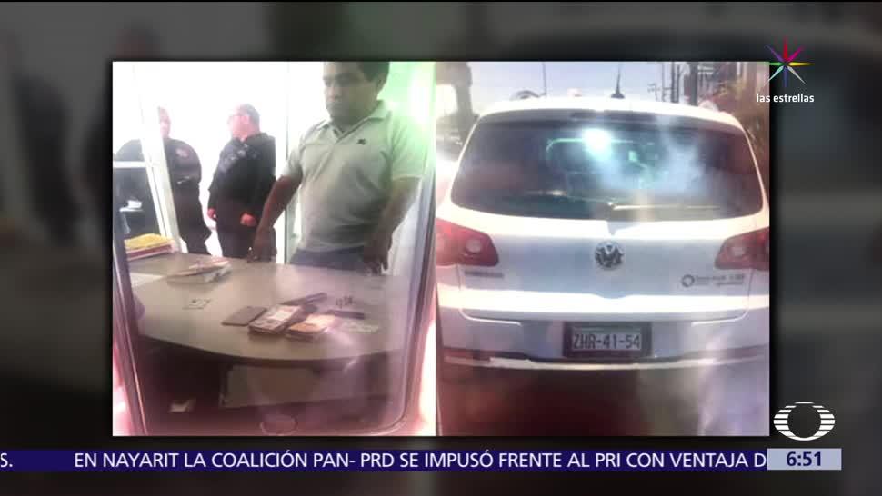 Detienen, Alejandro Bernal Cruz, chofer de Ricardo Monreal, compra de votos, Ecatepec, Edomex