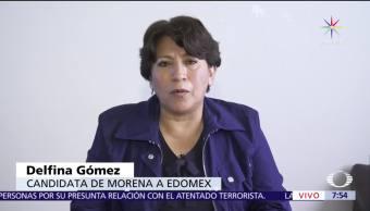 noticias, televisa, Delfina Gómez, candidata, Morena, gobierno del Edomex