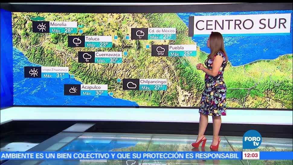 Ciudad de México, grados, temperatura máxima, probabilidad de lluvia
