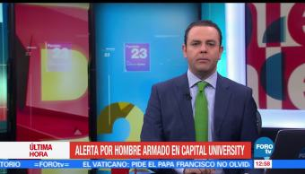 Autoridades de Columbus, alerta, hombre armado, Capital University, Columbus