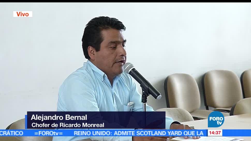 Chofer, Ricardo Monreal, Alejandro Bernal, detención
