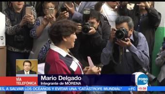 Mario Delgado, Morena, delfina,