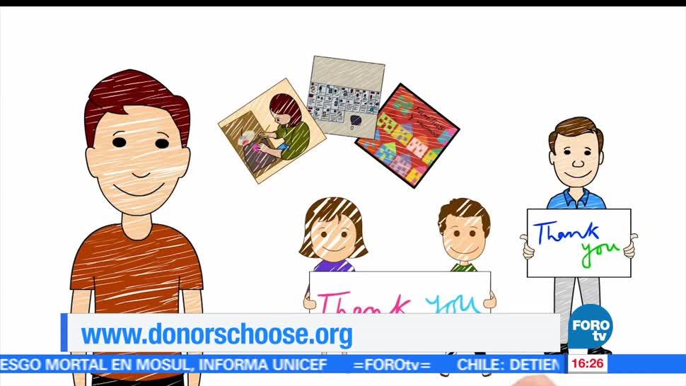 plataforma, Donors Choose, proyectos, educativos