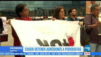 notticias, forotv, Protestan, periodistas, Chilpancingo, Marcela de Jesús Natalio