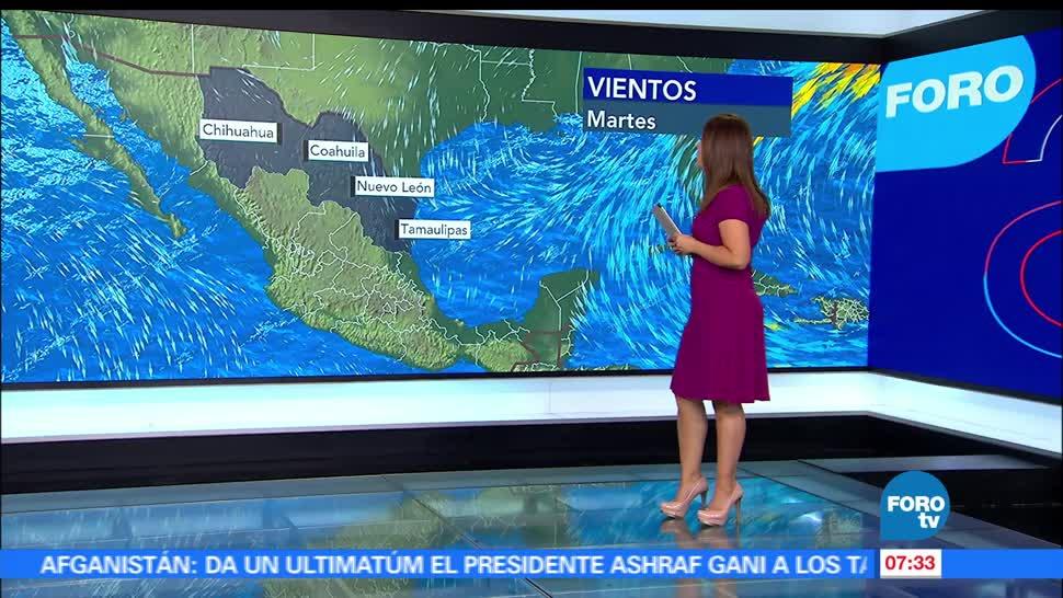 16 estados, República mexicana, altas temperaturas, grados centígrados, Valle de México