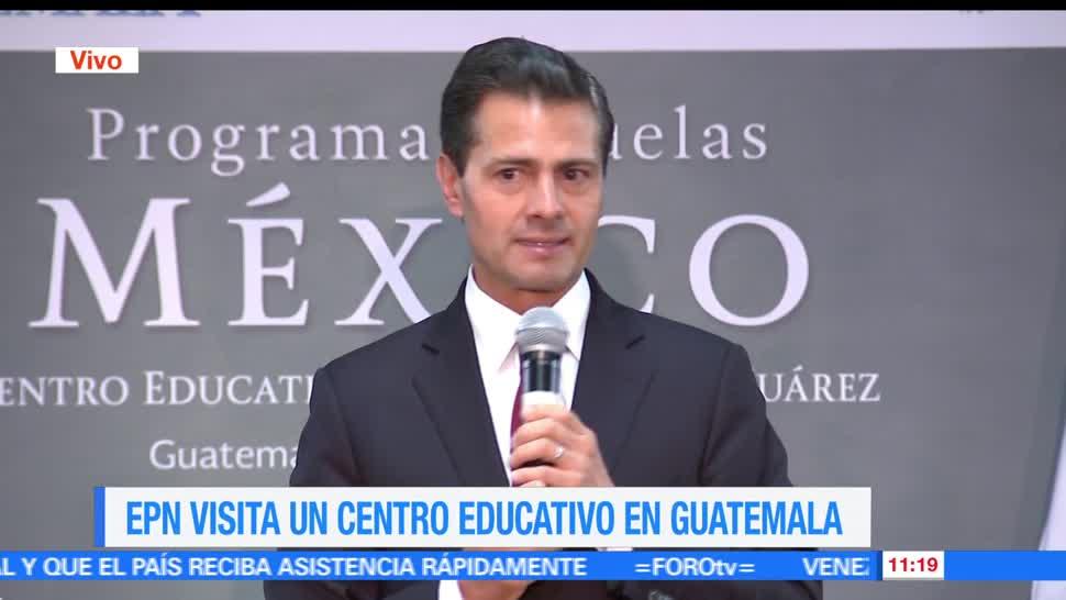 gira de trabajo, Guatemala, presidente Peña Nieto, Centro Educativo