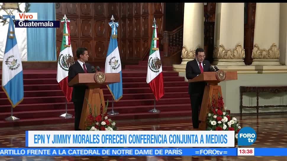 guatemala, Jimmy Morales, Enrique Peña Nieto (EPN), conferencia de prensa