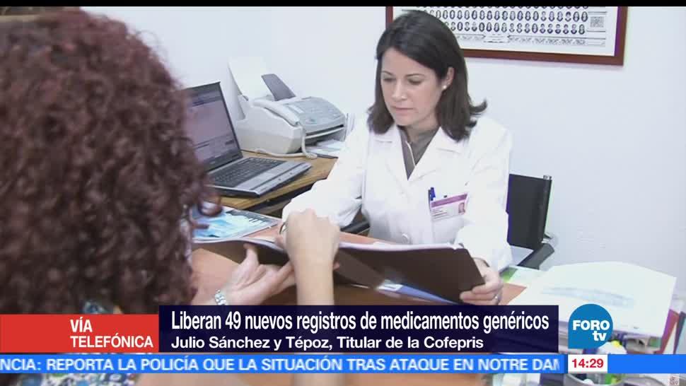 Cofepris, Julios Sánchez y Tépoz, titular de Cofepris, medicamentos genéricos