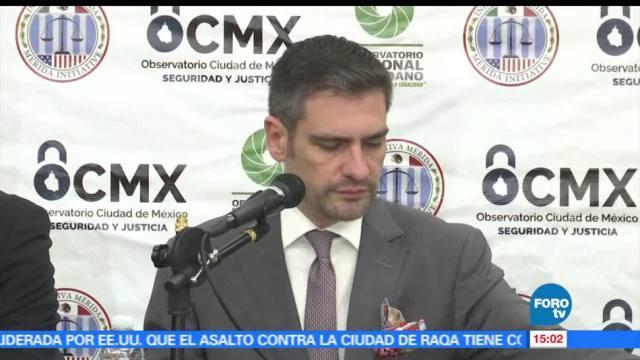 Observatorio Nacional Ciudadano, Francisco Rivas, Aumentan delitos, Ciudad de México