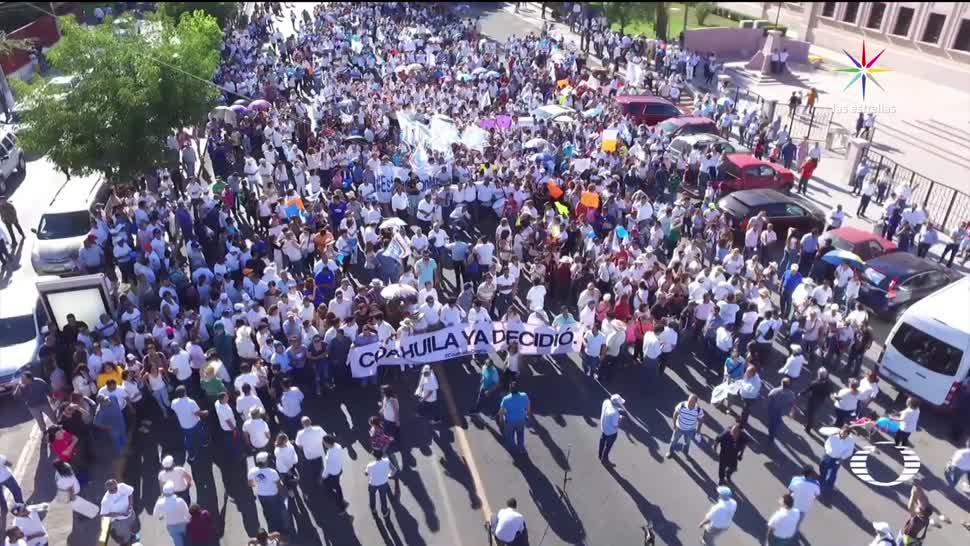 noticias, televisa, PRI y PAN, manifiestan por triunfo, candidatos, Coahuila