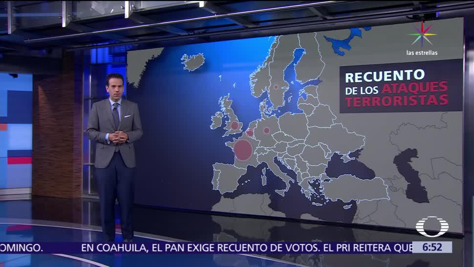 muertos, países de Europa, ataques terroristas, Francia