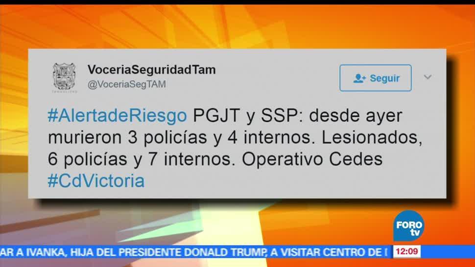 siete personas, disturbios, penal de Ciudad Victoria, Tamaulipas