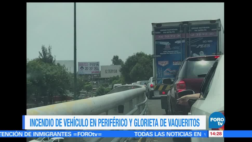 noticias, forotv, Incendio, vehículo, Periférico, CDMX