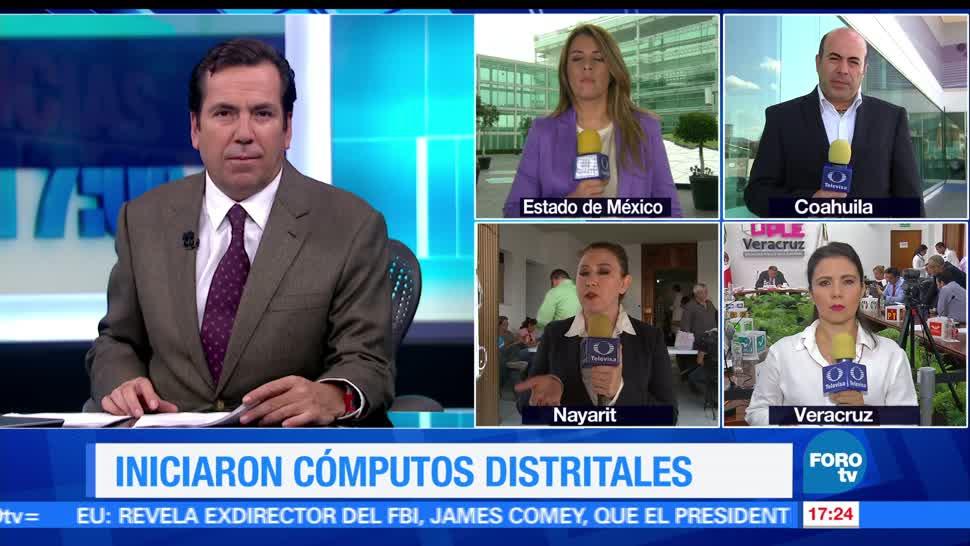 noticias, forotv, cómputos distritales, Edomex, Coahuila, Nayarit y Veracruz
