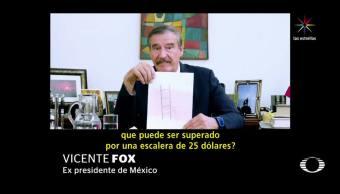 Vicente Fox, dedica, nuevo. video, Trump. muro