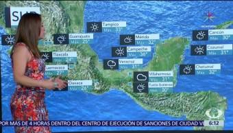 lluvias, intensidad, parte de México, canales de baja presión, onda tropical
