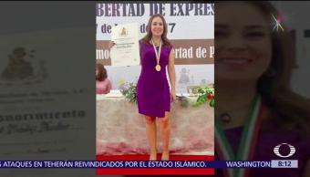 Club de Periodistas, México, reconocimiento a Raquel Méndez, Xalapa, Veracruz