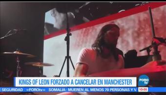 grupo Kings of Leon, Manchester Arena, temporal del área, concierto