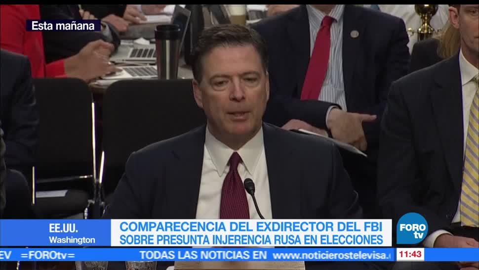 Senado de EU, exdirector del FBI, James Comey, Rusia, elecciones presidenciales