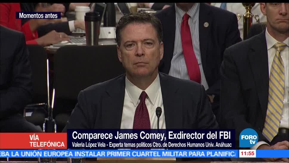 Valeria López Vela, comparecencia, exdirector del FBI, James Comey, Senado de Estados Unidos