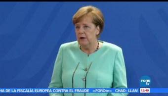 subsecretario de Relaciones Exteriores, Carlos de Icaza, canciller Angela Merkel, presidente Peña Nieto