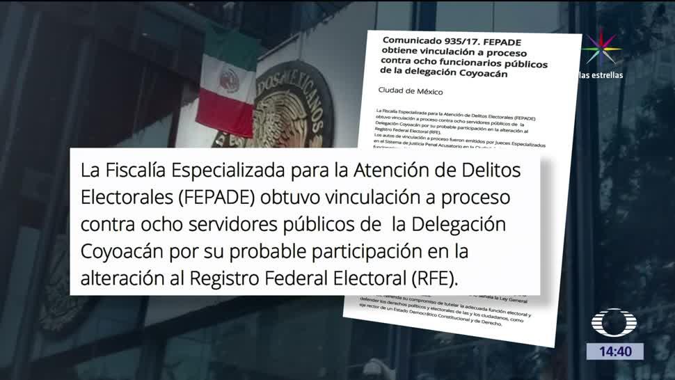 noticias, forotv, Fepade, procesa, 8 empleados, alterar registro electoral