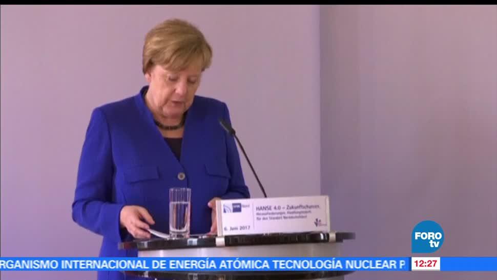 Angela Merkel, canciller alemana, llega, México