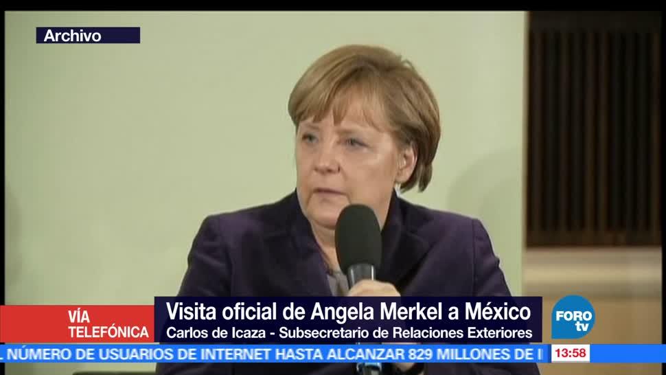 noticias, forotv, Visita, Angela Merkel, México, subraya la buena relación bilateral
