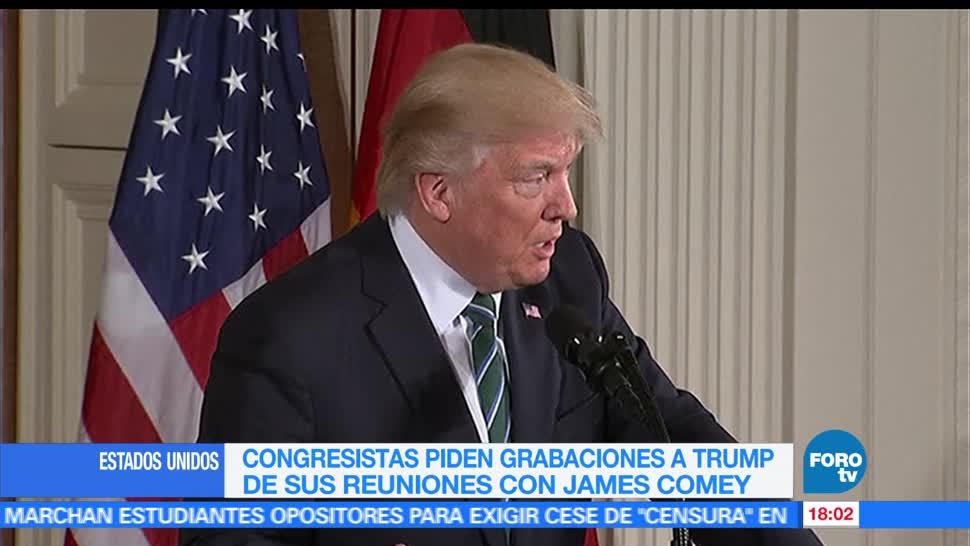 noticias, forotv, Piden, entregar grabaciones, Trump, Comey