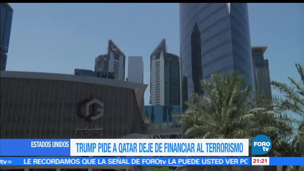 Trump, pide, Catar, dejar, financiar, terroristas