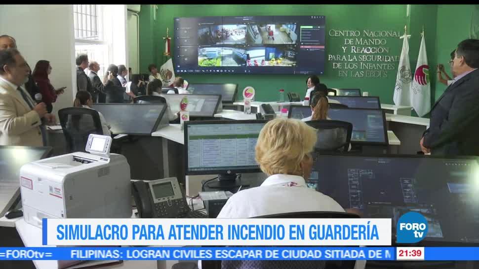 Realizan, simulacro, incendio, guardería, estancias, Jalisco