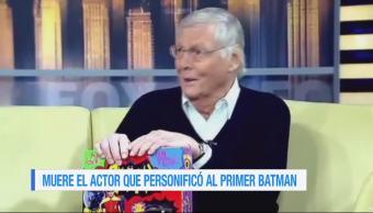 Muere, actor, Adam West, primer Batman