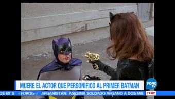 Muere, actor, personificó, primer, Batman, Adam West