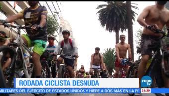 Realizan, rodada, ciclista, desnuda, CDMX, desnudosRealizan rodada ciclista desnuda en la CDMX