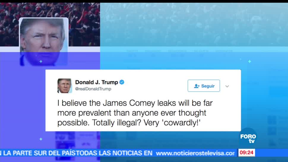 Donald Trump, exdirector del FBI, James Comey, información, reuniones privadas