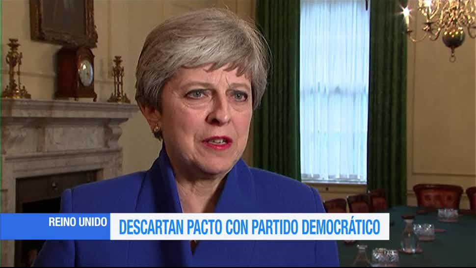 Descartan pacto, Partido Democrático, Reino Unido, Theresa May