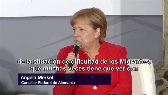 Concluye, visita, Angela Merkel, Ciudad de México