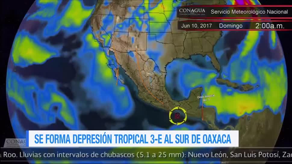 Se forma, depresión tropical, 3-E, Oaxaca