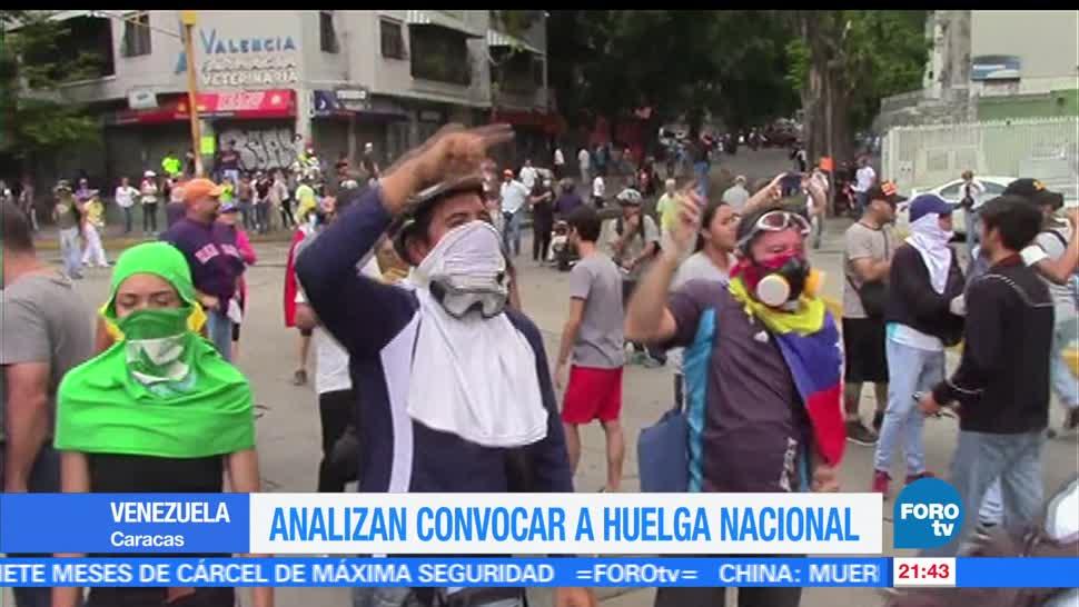 Opositores, analizan, convocar, huelga, nacional, Venezuela