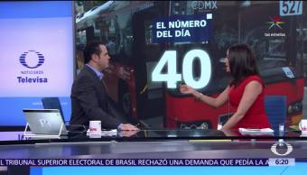 40 cristales, vandalismo, estaciones, líneas del metro, Metrobús, CDMX