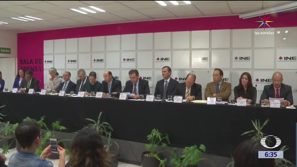Instituto Nacional Electoral, representantes, partidos políticos, proceso electoral