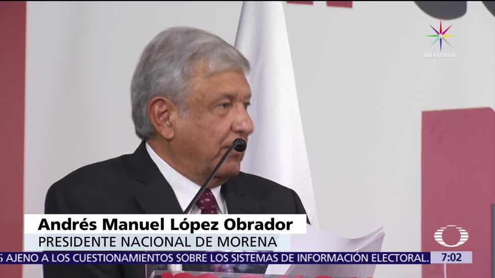 Andrés Manuel López Obrador, Morena, alianza, Partido del Trabajo, 2018