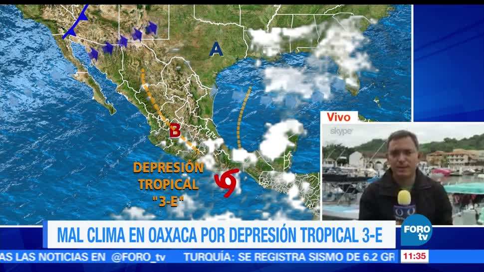 depresión tropical 3-E, costas de Oaxaca, suspenden clases, Costa, Istmo, Sierra Su
