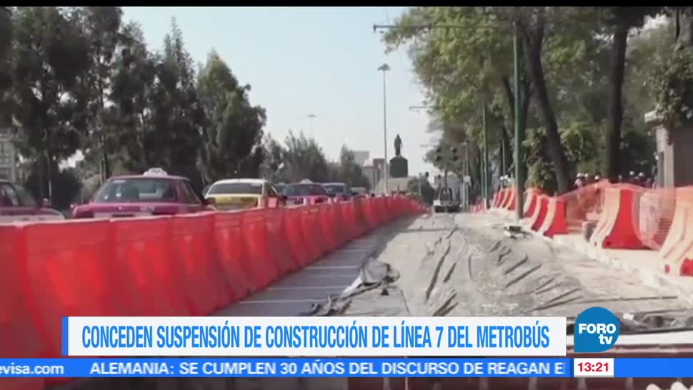 Suspenden, construcción, Metrobus, Reforma