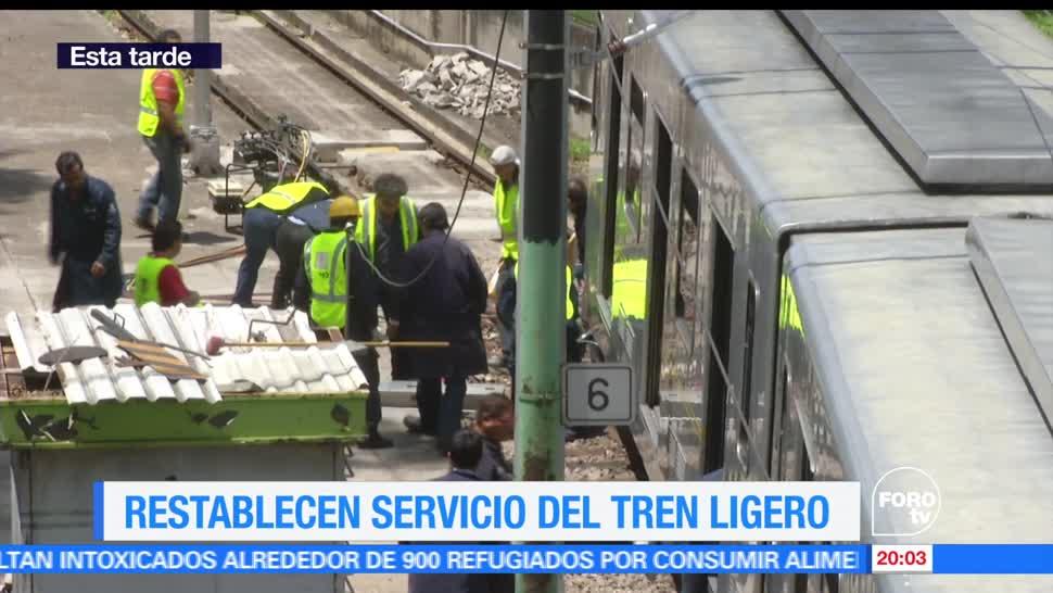 noticias, forotv, Restablecen, servicio, Tren Ligero, Restablecen servicio del Tren Ligero