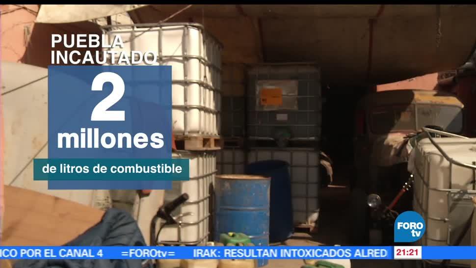 noticias, forotv, Decomisan, combustible, robado, Puebla
