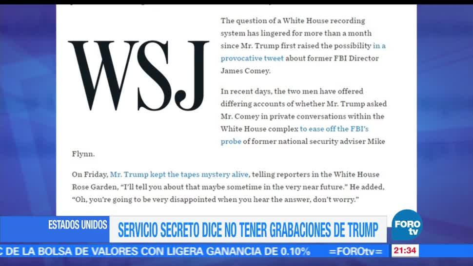 noticias, forotv, Servicio Secreto, no tiene, grabaciones, Trump
