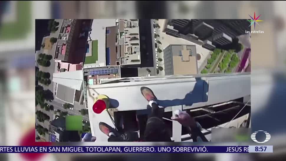 Alain Robert, hombre araña francés, Hotel Meliá Barcelona Sky, edificio más alto, ciudad española
