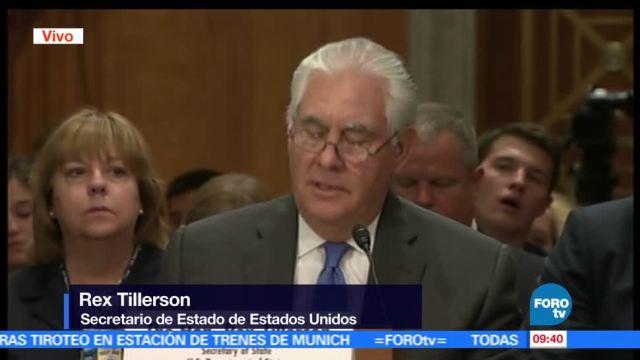 secretario de Estado, Rex Tillerson, comparece, legisladores estadounidenses