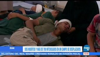 personas murieron, intoxicadas, comida en mal estado, campo de desplazados, Irak